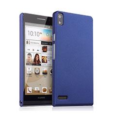 Cover Plastica Rigida Opaca per Huawei Ascend P6 Blu