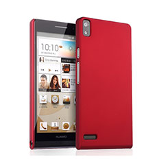 Cover Plastica Rigida Opaca per Huawei Ascend P6 Rosso