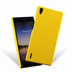 Cover Plastica Rigida Opaca per Huawei Ascend P7 Giallo