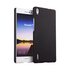 Cover Plastica Rigida Opaca per Huawei Ascend P7 Nero