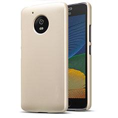 Cover Plastica Rigida Opaca per Motorola Moto G5 Oro