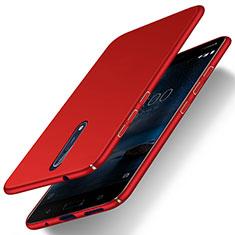 Cover Plastica Rigida Opaca per Nokia 8 Rosso