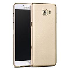 Cover Plastica Rigida Opaca per Samsung Galaxy C9 Pro C9000 Oro