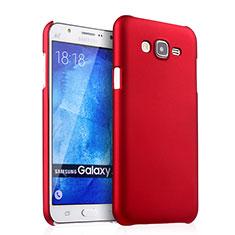 Cover Plastica Rigida Opaca per Samsung Galaxy J7 SM-J700F J700H Rosso