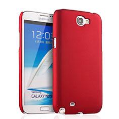 Cover Plastica Rigida Opaca per Samsung Galaxy Note 2 N7100 N7105 Rosso