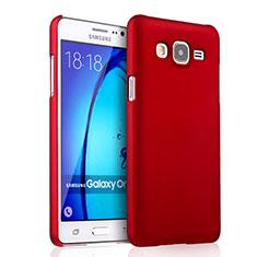 Cover Plastica Rigida Opaca per Samsung Galaxy On5 G550FY Rosso