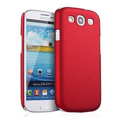 Cover Plastica Rigida Opaca per Samsung Galaxy S3 i9300 Rosso