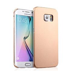 Cover Plastica Rigida Opaca per Samsung Galaxy S6 Edge SM-G925 Oro