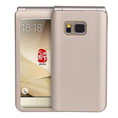 Cover Plastica Rigida Opaca per Samsung W(2016) Oro
