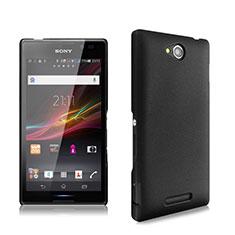 Cover Plastica Rigida Opaca per Sony Xperia C S39h Nero
