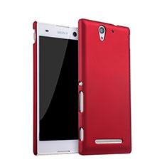 Cover Plastica Rigida Opaca per Sony Xperia C3 Rosso