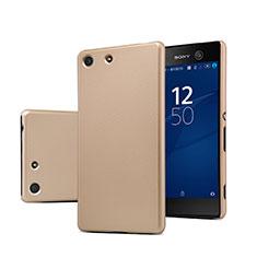 Cover Plastica Rigida Opaca per Sony Xperia M5 Oro