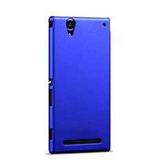 Cover Plastica Rigida Opaca per Sony Xperia T2 Ultra Dual Blu