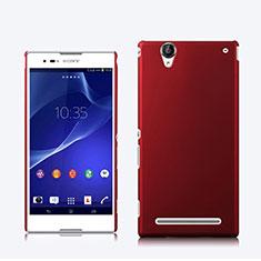 Cover Plastica Rigida Opaca per Sony Xperia T2 Ultra Dual Rosso