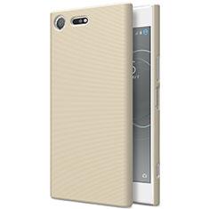Cover Plastica Rigida Opaca per Sony Xperia XZ Premium Oro
