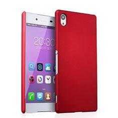 Cover Plastica Rigida Opaca per Sony Xperia Z3+ Plus Rosso