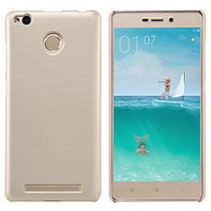 Cover Plastica Rigida Perforato per Xiaomi Redmi 3 Pro Oro