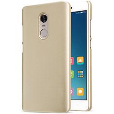 Cover Plastica Rigida Perforato per Xiaomi Redmi Note 4 Standard Edition Oro