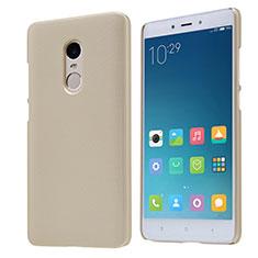 Cover Plastica Rigida Perforato per Xiaomi Redmi Note 4X High Edition Oro