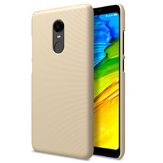 Cover Plastica Rigida Perforato per Xiaomi Redmi Note 5 Indian Version Oro