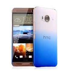 Cover Plastica Trasparente Rigida Sfumato per HTC One Me Blu