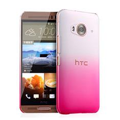 Cover Plastica Trasparente Rigida Sfumato per HTC One Me Rosa