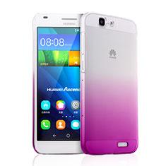 Cover Plastica Trasparente Rigida Sfumato per Huawei Ascend G7 Rosa