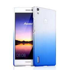 Cover Plastica Trasparente Rigida Sfumato per Huawei Ascend P7 Blu