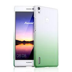 Cover Plastica Trasparente Rigida Sfumato per Huawei Ascend P7 Verde