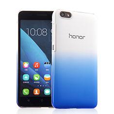 Cover Plastica Trasparente Rigida Sfumato per Huawei Honor 4X Blu