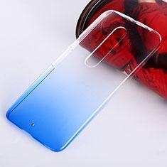 Cover Plastica Trasparente Rigida Sfumato per Motorola Moto X Style Blu