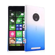 Cover Plastica Trasparente Rigida Sfumato per Nokia Lumia 830 Blu