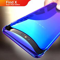 Cover Plastica Trasparente Rigida Sfumato per Oppo Find X Super Flash Edition Blu