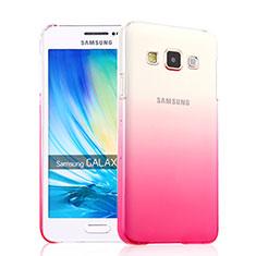 Cover Plastica Trasparente Rigida Sfumato per Samsung Galaxy A3 SM-300F Rosa