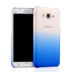 Cover Plastica Trasparente Rigida Sfumato per Samsung Galaxy J7 SM-J700F J700H Blu