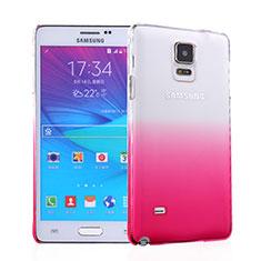 Cover Plastica Trasparente Rigida Sfumato per Samsung Galaxy Note 4 Duos N9100 Dual SIM Rosa