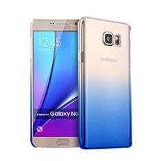Cover Plastica Trasparente Rigida Sfumato per Samsung Galaxy Note 5 N9200 N920 N920F Blu