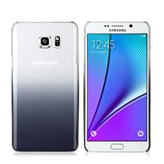 Cover Plastica Trasparente Rigida Sfumato per Samsung Galaxy Note 5 N9200 N920 N920F Grigio