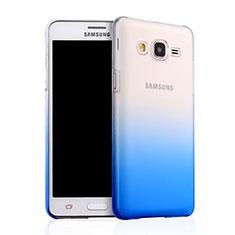 Cover Plastica Trasparente Rigida Sfumato per Samsung Galaxy On5 G550FY Blu