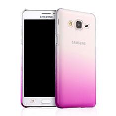 Cover Plastica Trasparente Rigida Sfumato per Samsung Galaxy On5 G550FY Rosa