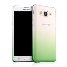 Cover Plastica Trasparente Rigida Sfumato per Samsung Galaxy On5 G550FY Verde
