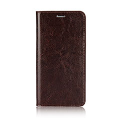 Cover Portafoglio In Pelle con Supporto F01 per Apple iPhone Xs Marrone