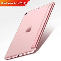 Cover Portafoglio In Pelle con Supporto L01 per Apple iPad Air 3 Oro Rosa