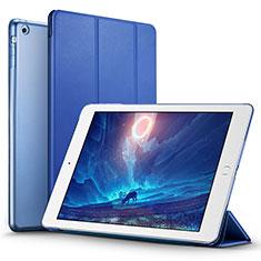Cover Portafoglio In Pelle con Supporto L01 per Apple iPad Air Blu