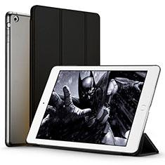 Cover Portafoglio In Pelle con Supporto L01 per Apple iPad Air Nero