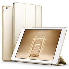 Cover Portafoglio In Pelle con Supporto L01 per Apple iPad Air Oro