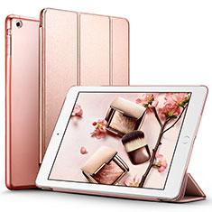 Cover Portafoglio In Pelle con Supporto L01 per Apple iPad Air Oro Rosa