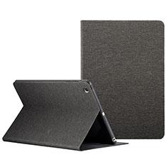 Cover Portafoglio In Pelle con Supporto L01 per Apple iPad Mini 3 Nero
