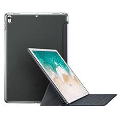 Cover Portafoglio In Pelle con Supporto L01 per Apple iPad Pro 10.5 Grigio