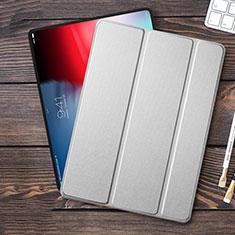 Cover Portafoglio In Pelle con Supporto L01 per Apple iPad Pro 12.9 (2018) Argento